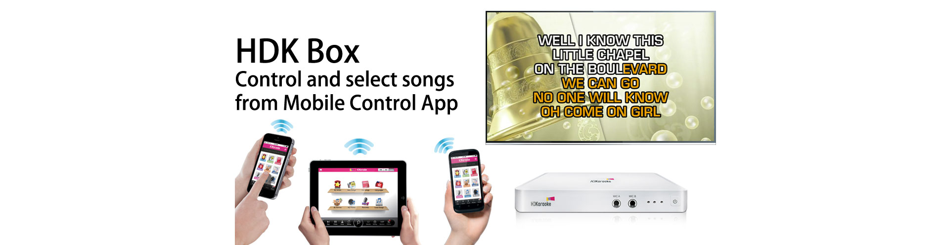 Karaoke Player Supports iOS & Android APP control